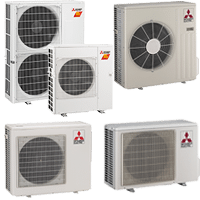 Mitsubishi Ductless Outdoor Units